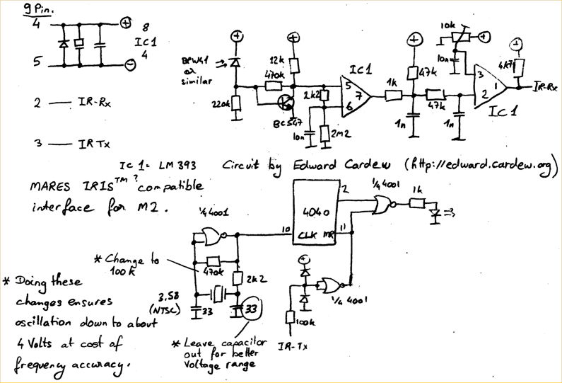 Mares Iris Interface Schematic Circuit